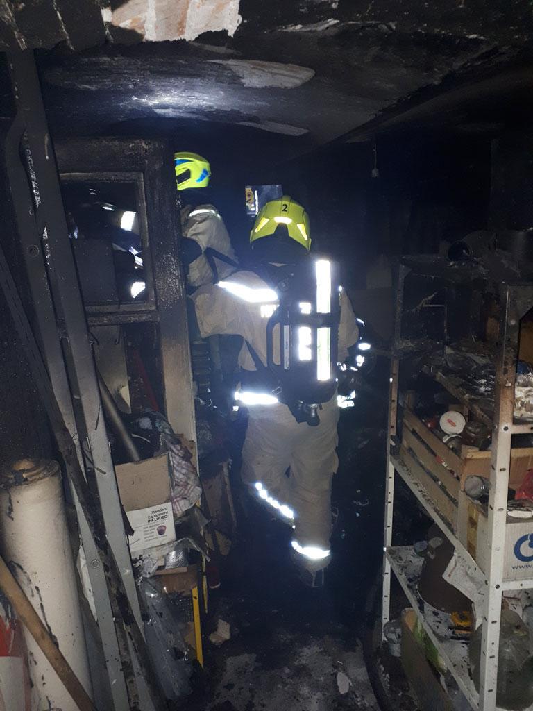 Kletni požar na Ljubljanski cesti - PGE Celje