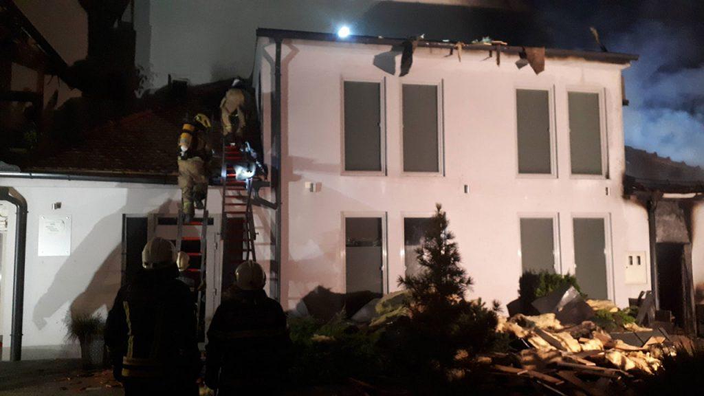 Požar na Gosposki ulici v Celju